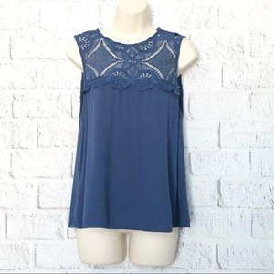 E Hanger M Lace Tank Top by Anthropologie Size M